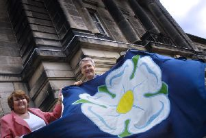 Jean Butterfield and Harrogate MP Andrew Jones.