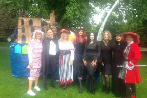 The heavy rain did not dampen the spirits at the Knaresborough Bed Race today.