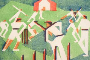 Edith Lawrence (1890-1973) 'Cricket' Signed, inscribed and numbered 15/25, linocut, 25.5cm by 38.5cm. �2,500-�4,000.
