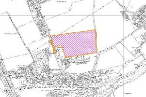 The proposed site of the 175 home development, north of Boroughbridge.