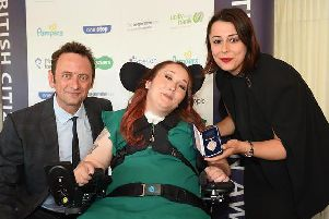 Winner - Lauren Doherty, centre, with her award.