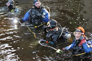 Divers from Harrogate British Sub Aqua Club went into the river to look for the missing cannon last Tuesday evening.