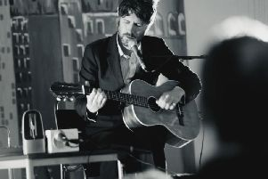 Gruff Rhys of Super Furry Animals, who was one of the headliners at this year's Deer Shed Festival in North Yorkshire.