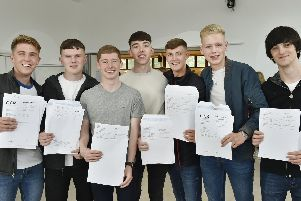 Darragh Kennedy, Joseph Laverty, James Greene, Dom Coverley, Joe Hemsworth, Michael Ruane, and Francis Ryan-Casey, all happy with their results.