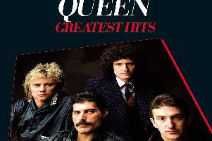 The cover of Queens Greatest Hits album which will be featured in a Harrogate event.