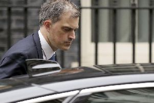 Julian Smith pictured at Downing Street. Pic: PA
