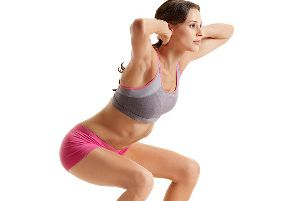 A body weight squat.