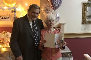 Ken and Jean Murray at their party.