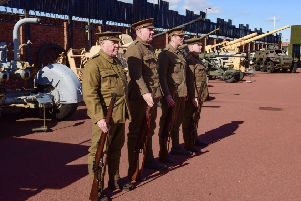 Members of the 18th Durham Light Infantry (The Durham Pals) renactment group were on parade at the Heugh Battery