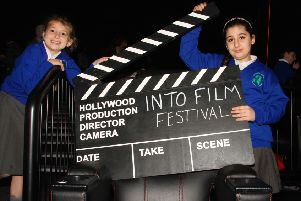 Pupils ready for action with the national Film Festival.