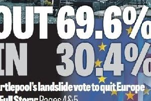 Flashback to the Hartlepool Mail in 2016 and our coverage of the town's Brexit vote.