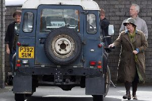 Actress Brenda Blethyn filming for Vera. Picture: PA.