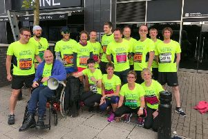 The support group's team for the 2018 Great North Run. They have 25 places this year.
