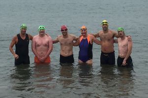 The super six from Tri Life Hartlepool who are facing the mega charity challenge.
