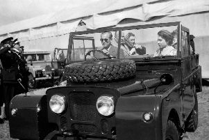 The Duke of Edinburgh and Queen Elizabeth II pictured in 1955. Picture: PA.
