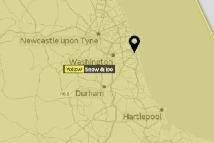 A yellow warning is in place from 12pm today. Picture by Met Office.