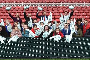 Representatives and local school pupils delighted as Tees Valley revealed as a host venue for theRugby League World Cup 2021.
