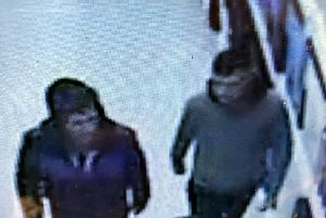 A CCTV image taken from the Poundstretcher store in Peterlee which has been released by police.