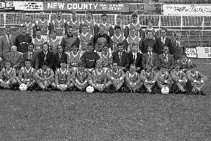 The Hartlepool United squad around the time of the 1988 triumph over Sunderland.
