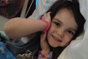 Little Lyla O'Donovan is waiting for an operation to remove a brain tumour.
