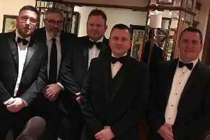 Left to right: Utility Alliance's Ian Willis, Darren Sutherland,  Paul Stone, Bob Moore and Phill Moore.