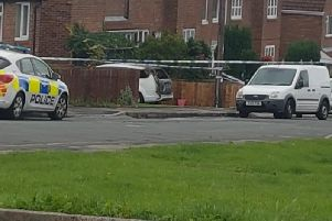 The scene of the shooting, which happened at Coronation Road, Wingate.