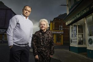 Billy and Julie who run a letting agency in Hartlepool featured in the final episode. 'Image by Channel 4.