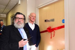 Actor Ricky Tomlinson opening the new food bank extension at Community House, Yoden Road, Peterlee, on Saturday, with Malcolm Fallow (right) CEO East Durham Trust.