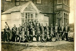 The West Hartlepool 4th Artillery Volunteers Band. The photo has been kindly submitted to us by Megan Smiles.