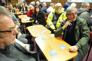 Cabin owners and supporters are a meeting last month to discuss the future of the Hartlepool site.