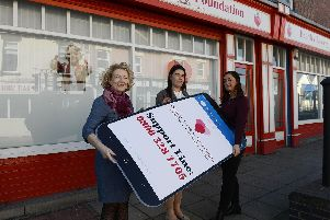 Sue Carey of CLIC Sargent, Kirsty Pattison, a counsellor from Kalma Places and Gemma Lowery.
