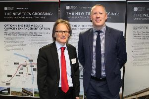Coun Stephen Harker, left, with Andy Johnson at the consultation launch.