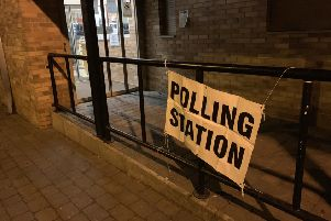 The polling station at Wingate Community Centre.