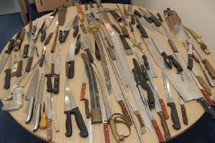 Blades given to Cleveland Police in the latest knife amnesty last year.