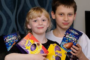 Scarlett Mason and Benjamin Cooper, both nine, from Seaton Carew have launched an Easter egg appeal for Hartlepool Foodbank.