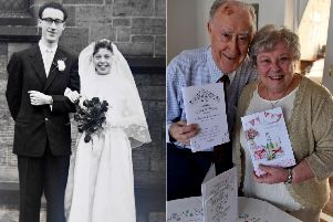 Roger and Hilda, both 81, are celebrating 60 years of marriage.