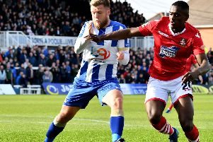 Nicky Featherstone stared for Hartlepool in their 1-0 win over Wrexham.