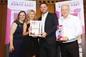Left to right, Hartlepool Borough Council's Environmental Health Manager Joanne Burnley, Jane Thomas from E.ON and (far right) Steve Crump from J & J Crump and Sons Ltd.