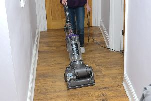 Vacuuming can cause back pain.