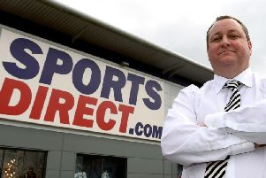 Newcastle United owner and Sports Direct boss Mike Ashley. Picture by Joe Giddens/PA Wire.