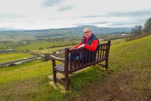 Hartlepool man Paul Griffiths on one of his favourite benches in Leyburn, Wesleydale.