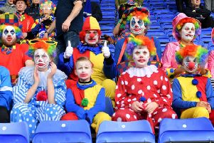 Clowning around at Tranmere in 2018.