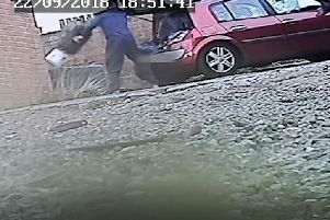 A covert camera captured John Hall flytipping waste from a car.