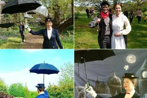 You can spend the bank holiday weekend with Mary Poppins and Bert at Crook Hall & Gardens.