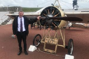 Hartlepool MP Mike Hill at the Heugh Battery Museum
