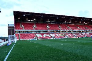 Police investigating an incident in the tunnel after a match at Barnsley Football Club on Saturday have arrested a man on suspicion of racially aggravated offences.
