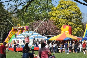 Crowds enjoying the Friends of Ward Jackson Park's Easter fun day.