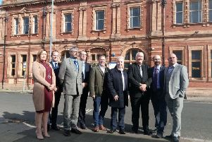 Project partners marked the launch of work on The BIS centre in Whitby Street, Hartlepool in 2017.