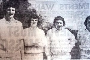 The Hartlepool team featured two sets of brothers and they were, from left, Mike and John Gough, and Brian and Jeff Lamb.