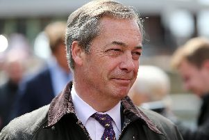 Mr Farage spoke to residents, councillors and business operators on his visit.